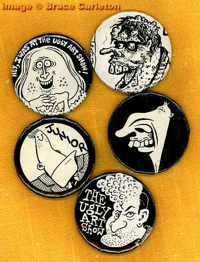 Ugly Art Show buttons
